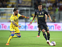 Calcio, Serie A: Frosinone-Juventus, Benito Stirpe stadium, Frosinone, September 23, 2018. <br /> Juventus' Rodrigo Bentancur (r) in action with Frosinone's Francesco Zampano (l) during the Italian Serie A football match between Frosinone and Juventus at Frosinone stadium on September 23, 2018.<br /> UPDATE IMAGES PRESS/Isabella Bonotto