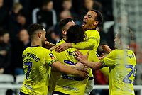 Blackburn Rovers' Bradley Dack celebrates scoring his side's first goal with teammates<br /> <br /> Photographer Alex Dodd/CameraSport<br /> <br /> Emirates FA Cup Third Round - Newcastle United v Blackburn Rovers - Saturday 5th January 2019 - St James' Park - Newcastle<br />  <br /> World Copyright &copy; 2019 CameraSport. All rights reserved. 43 Linden Ave. Countesthorpe. Leicester. England. LE8 5PG - Tel: +44 (0) 116 277 4147 - admin@camerasport.com - www.camerasport.com