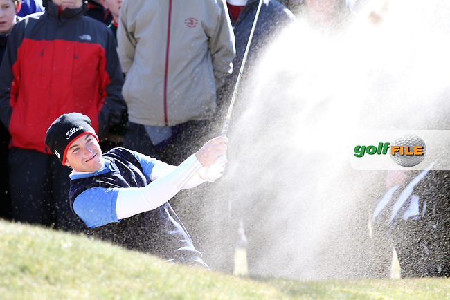 Rory McNamara (Headfort) on the 7th during the Final  at the West of Ireland Amateur Open Golf Championship 2013 at Co.Sligo Golf Club, Rosses Point, Co.Sligo. 2/04/2013...(Photo Jenny Matthews/www.golffile.ie)