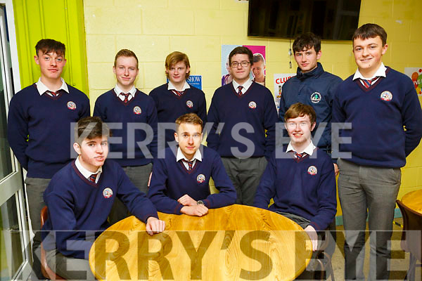 KERRY SCIENCE: Students from St. Brendan's Killarney who participated in the Senior science quiz at Tralee IT on Thursday evening pictured here are Front l-r James Lynch, Kamil Kunicki, Darren Crowley Back l-r Cian Gammell, Stephan McKenna, Cory Kissane, Fiachra O'Connell, Jonathan O'Rourke, and Cian Tagney