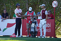 Raffa Cabrera Bello (ESP) and Martin Kaymer (GER) on the 4th tee during Round 2 of the Abu Dhabi HSBC Championship 2020 at the Abu Dhabi Golf Club, Abu Dhabi, United Arab Emirates. 17/01/2020<br /> Picture: Golffile   Thos Caffrey<br /> <br /> <br /> All photo usage must carry mandatory copyright credit (© Golffile   Thos Caffrey)