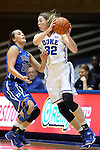 26 October 2014: Erin Mathias (32) and Rebecca Greenwell (23). The Duke University Blue Devils held their annual Blue-White Game at Cameron Indoor Stadium in Durham, North Carolina in preparation of the upcoming 2014-15 NCAA Division I Women's Basketball season.