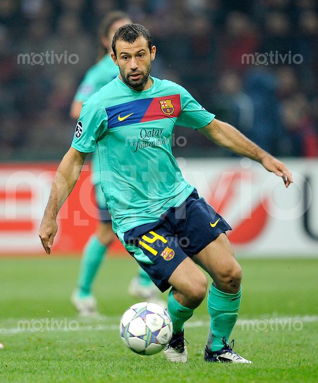 FUSSBALL   CHAMPIONS LEAGUE   SAISON 2011/2012     23.11.2011 AC Mailand - FC Barcelona Javier Mascherano (Barca)