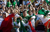 05 July 2009:  Mexico fans celebrate together during the game at Oakland-Alameda County Coliseum in Oakland, California.   Guadeloupe defeated Panama, 2-0.
