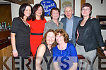 FAMILY: Great night by Maureen Jones and Pauline Barrett as they both celebrated their 60th birthday in The Oyster Tavern, The Spa, Tralee on Saturday night. Pauline Barrett and Maureen Jones. back l-r: Emma, paula, Theresa,Tim and Maeve Collins.