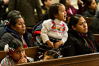 NEW YORK, NY - DECEMBER 11: A group of children and their families enjoy the Mexican show in the Cathedral of Saint Patrik, on December 11, 2018, in New York. Where hundreds of parishioners attend to pay homage to the Virgin of Guadalupe. (Photo by Pablo Monsalve/VIEWpress)