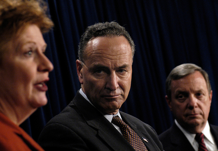 Sen. Debbie Stabenow, D-Mi.; Sen. Chuck Schumer, D-NJ; and Sen. Dick Durbin, D-Il., held a press conference today, citing 45 Senators signatures supporting a letter to President Bush decring the personal attacks by the GOP against Senate Minority Leader Harry Reid.