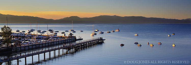 At the Tahoe City Marina...