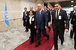 Palestinian Prime Minister Rami Hamdallah attends a United Nations Relief and Works Agency for Palestine Refugees in the Near East, UNRWA, conference, in Rome, Italy, March 15, 2018. Photo by Prime Minister Office