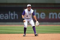 Winston-Salem Dash third baseman Brady Conlan (9) on defense against the Buies Creek Astros at BB&T Ballpark on April 16, 2017 in Winston-Salem, North Carolina.  The Dash defeated the Astros 6-2.  (Brian Westerholt/Four Seam Images)