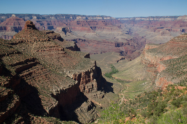 Indian Gardens and Plateau Point in Grand Canyon National Park, Arizona. .  John offers private photo tours in Grand Canyon National Park and throughout Arizona, Utah and Colorado. Year-round.
