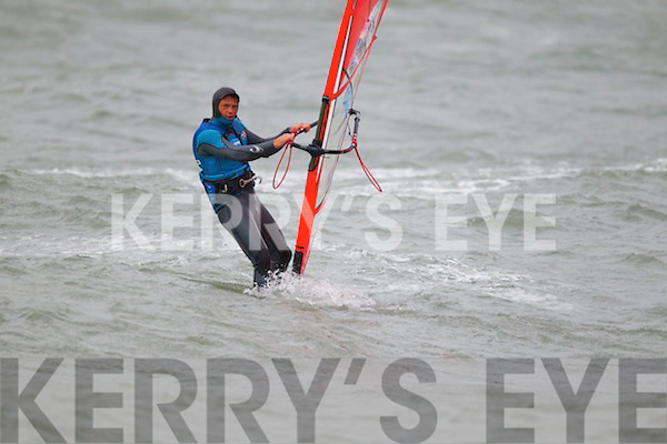 Pictured at the Red Bull Storm Chase windsurfing competition at the Maherees on Monday.