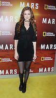 NEW YORK, NY-October 26: Maggie Geha  at National Geographic Channel presents the Epic Six-Part Event Series MARS premiere at the School of Visual Arts  in New York.October 26, 2016. Credit:RW/MediaPunch