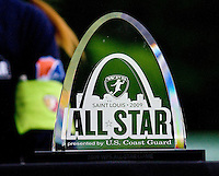 The trophy after the WPS All Star match at Anheuser-Busch Soccer Park, in St. Louis, MO, June 7, 2009. The WPS All Stars won the match 4-2.