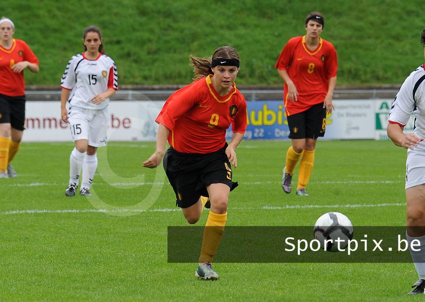 Belgium U17 - Armenia U17 : Megane Lerinckx (9)<br /> foto Joke Vuylsteke / nikonpro.be