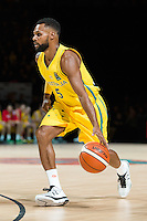 Melbourne, 15 August 2015 - Patty MILLS of Australia in action during game one of the 2015 FIBA Oceania Championships in men's basketball between the Australian Boomers and the New Zealand Tall Blacks at Rod Laver Arena in Melbourne, Australia. Aus def NZ 71-59. (Photo Sydney Low / sydlow.com)