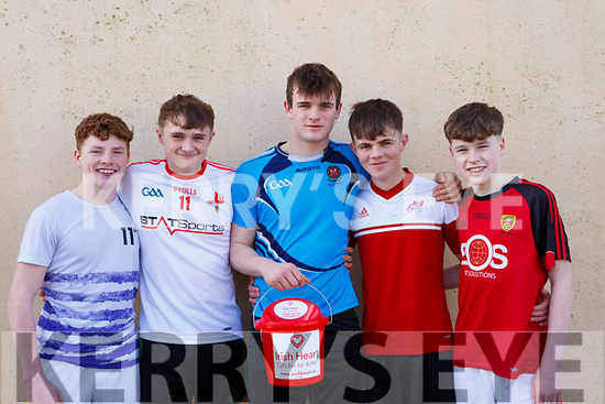 Representing the Ballybunion Youth Club, l to r, Robert Foley, Brian O'Callaghan, James Donegan, Barry O'Neill and Connor Toomey, who played in the Jack O'Sullivan 3rd annual Memorial five-a-side soccer tournament held in the Ballybunion Community Centre on Sunday last.