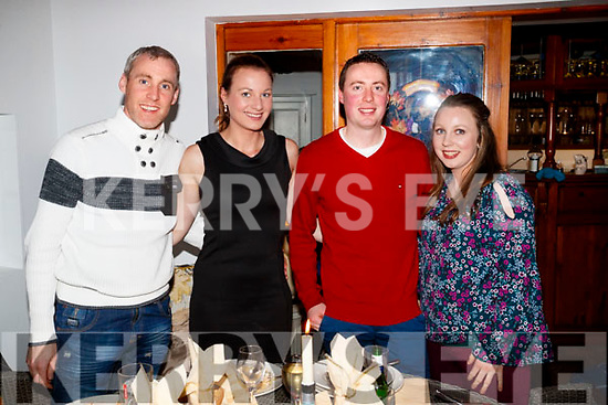 Michael O'Sullivan, Theresa O'Sullivan, Thomas Culloty and Siobhan McCarthy, all from Castleisland, enjoying a night out in Bella Bia on Saturday night last.