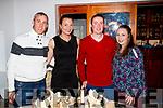 Michael O'Sullivan, Theresa O'Sullivan, Thomas Culloty and Siobhan McCarthy, all from Castleisland, enjoying a night out in Bella Bia on Saturday night last.