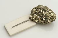 pyrite with streak plate