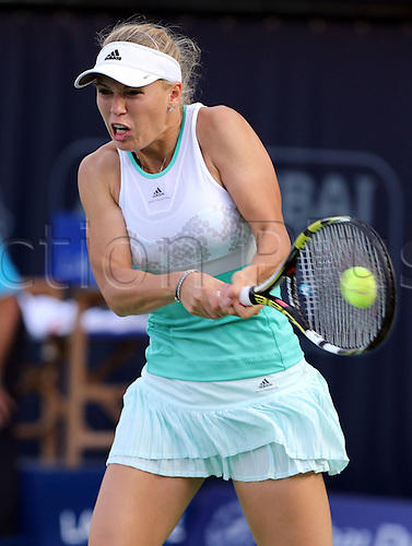 19.02.2014. Dubai, UAE.  Dubai Tennis Championships 2014,WTA Tennis Tournament,International Series, Caroline Wozniacki (DEN)