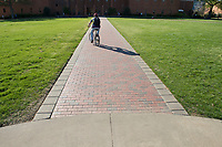 Drill Field sidewalk.<br />  (photo by Megan Bean / &copy; Mississippi State University)