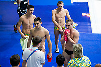 Picture by Rogan Thomson/SWpix.com - 15/07/2017 - Diving - Fina World Championships 2017 -  Duna Arena, Budapest, Hungary - Olympic Champions Chris Mears and Jack Laugher of Great Britain look frustrated after failing to medal in the Mens 3m Synchronised Springboard Final.