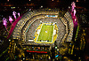 Aerial view of Lincoln Financial Field Home of the Philadelphia Eagles during a monday night game with Fireworks