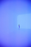RUSSIA, Moscow. Light art installation by artist James Turrell at the Garage Museum of Contemporary Art.