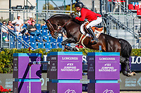 BEL-Jerome Guery rides Quel Homme De Hus during the First Round of the CSIO Barcelona - Longines FEI Nations Cup Jumping Final. Reial Club de Polo de Barcelona. Spain. Thursday 3 October. Copyright Photo: Libby Law Photography