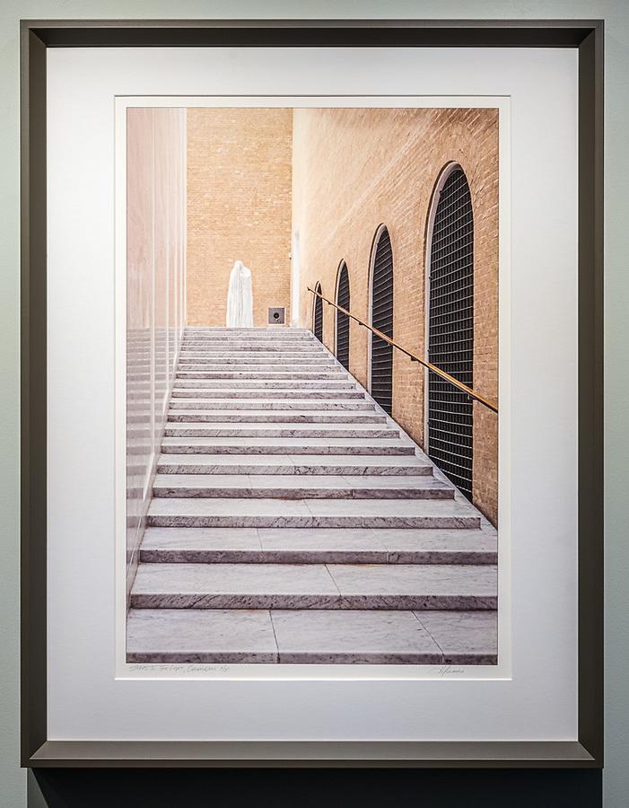 """Framed Size 26""""h x 20""""w, $600<br /> Putty bevelwood frame"""