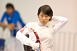 Shiho Nishioka (JPN),<br /> AUGUST 5, 2013 - Fencing :<br /> World Fencing Championships Budapest 2013, Women's Individual Foil Qualifications at Syma Hall in Budapest, Hungary. (Photo by Enrico Calderoni/AFLO SPORT) [0391]