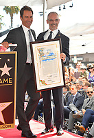 """LOS ANGELES, CA. September 13, 2018: Eric McCormack & Mitch O'Farrell at the Hollywood Walk of Fame Star Ceremony honoring """"Will & Grace"""" star Eric McCormack."""
