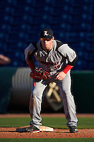 Louisville Cardinals first baseman Brendan McKay (38) during a game against the Ball State Cardinals on February 19, 2017 at Spectrum Field in Clearwater, Florida.  Louisville defeated Ball State 10-4.  (Mike Janes/Four Seam Images)