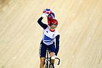 Engeland, London, 3 Augustus 2012.Olympische Spelen London.Baanwielrennen .De 31-jarige Britse baanwielrenster Victoria Pendleton heeft vrijdag de keirin gewonnen op de Olympische Spelen in Londen