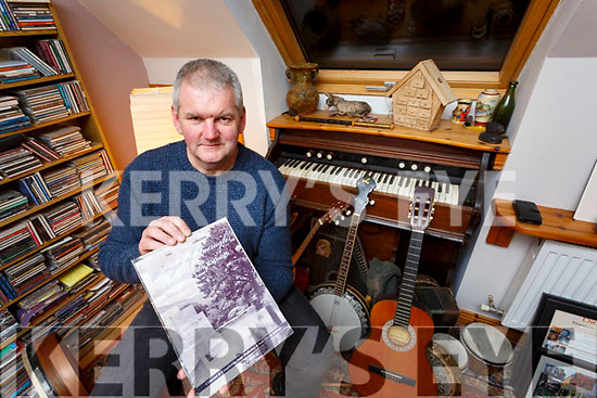 Musician Peter Mullarkey pictured here with the newest book from the Binneas Collection - Volume 2 Songs of Iveragh 'Amhráin Uíbh Ráthaigh' by Peter Mullarkey & Seán Mac an tSíthigh which will be launched on Sunday by singer Tim Dennehy in the Community Centre, Ballinskelligs as part of the Éigse na Brídeoige festival.  Some of the songs from the collection will be performed over the weekend.