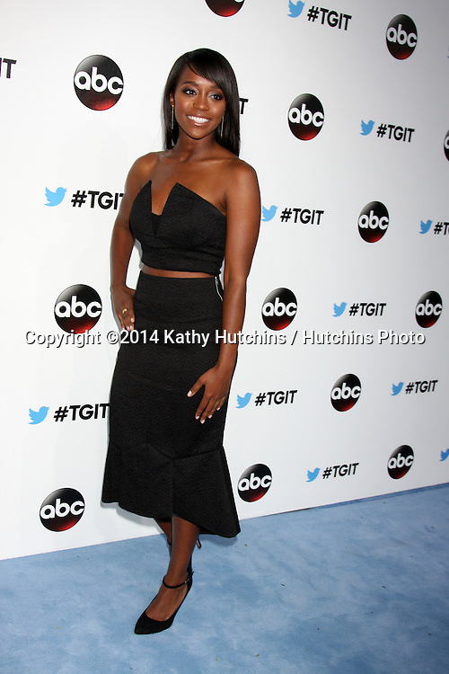 LOS ANGELES - SEP 20:  Aja Naomi King at the TGIT Premiere Event for Grey's Anatomy, Scandal, How to Get Away With Murder at Palihouse on September 20, 2014 in Westwood, CA