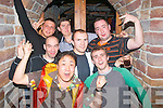8899-8901.STAFF OUTING : Staff from Hillbilly's restaurant, The Square, Tralee having a good time in Hennessy's bar, Tralee last Friday night were Chris Sun (manager), Graham Quigley, Mariusz Sawicki, Maxime Bouderlique, Jakob Pluciennik, Marek Wroblewski and Mantas Paulavic.