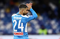 6th January 2020; Stadio San Paolo, Naples, Campania, Italy; Serie A Football, Napoli versus Inter Milan; Lorenzo Insigne of Napoli applauds the fans calling his name - Editorial Use