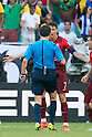 Milorad Mazic (Referee), Cristiano Ronaldo (POR), JUNE 16, 2014 - Football / Soccer : Cristiano Ronaldo of Portugal argues during the FIFA World Cup Brazil 2014 Group G match between Germany 4-0 Portugal at Arena Fonte Nova in Salvador, Brazil. (Photo by Maurizio Borsari/AFLO)