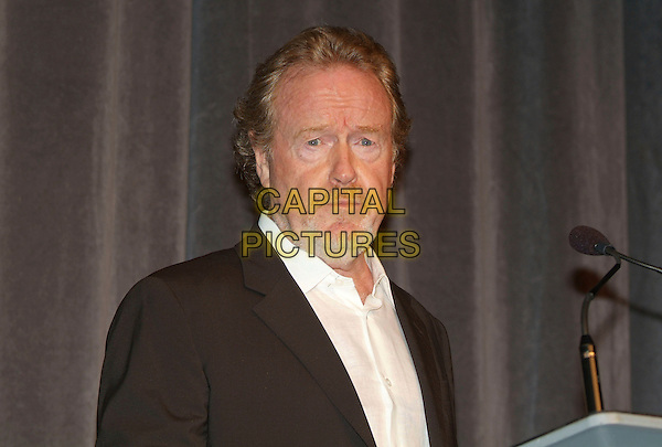 "RIDLEY SCOTT .""A Good Year"" Premiere during the 2006 Toronto International Film Festival held at Roy Thomson Hall, Toronto, Ontario, Canada..Ref: ADM/BP.headshot portrait glasses microphone.www.capitalpictures.com.sales@capitalpictures.com.©Byron Purvis/AdMedia/Capital Pictures."