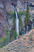 Waterfall in canyon land, Near Lytton, British Columbia, Canada