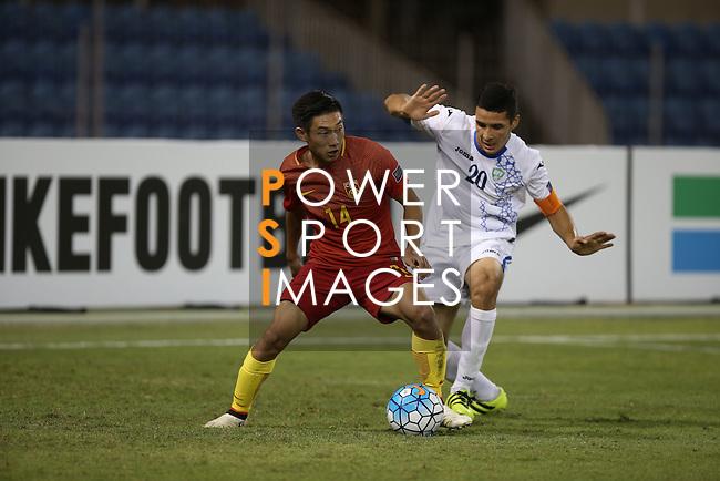 Uzbekistan vs China PR during the 2016 AFC U-19 Championship Group D match at Khalifa Sports City Stadium on 21 October 2016, in Isa Town, Bahrain. Photo by Isa Ebrahim / Lagardere Sports