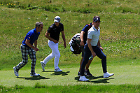Niall Horan (AM) on the 3rd during the Pro-Am of the Irish Open at LaHinch Golf Club, LaHinch, Co. Clare on Wednesday 3rd July 2019.<br /> Picture:  Thos Caffrey / Golffile<br /> <br /> All photos usage must carry mandatory copyright credit (© Golffile | Thos Caffrey)