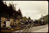 Dismantling crew - road crossing - Monarch - Salida area?<br /> D&amp;RGW  Monarch Switchback, CO