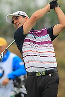 Felipe Aguilar (CHI) tees off the par3 17th tee during Friday's Round 2 of the 2014 BMW Masters held at Lake Malaren, Shanghai, China 31st October 2014.<br /> Picture: Eoin Clarke www.golffile.ie