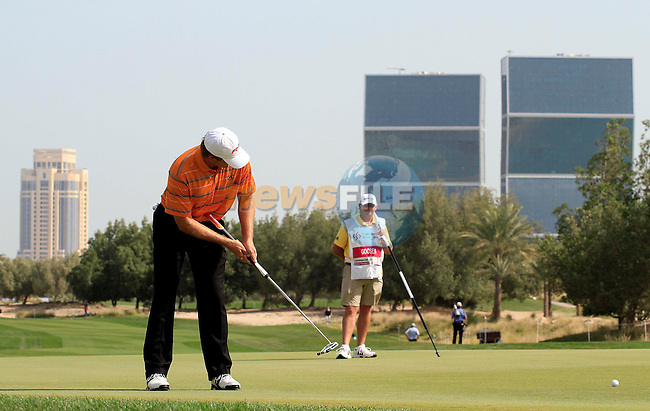 Retief Goosen (RSA) in action during the third round of .the Commercialbank Qatar Masters presented by Dolphin Energy played at Doha Golf Club, Doha, Qatar on 5th February 2011..Picture: Phil Inglis / www.golffile.ie.