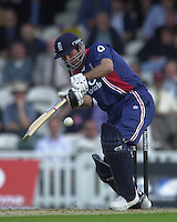 09/07/2002 - Tue.Sport - Cricket-  NatWest Series - Eng vs India Oval.England batting   Ronnie Irani and Michael Vaughan.