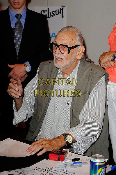 LONDON, ENGLAND - JULY 12: George A Romero attending London Film and Comic Con 2014 at Earls Court on July 12, 2014 in London, England.<br /> CAP/MAR<br /> &copy; Martin Harris/Capital Pictures
