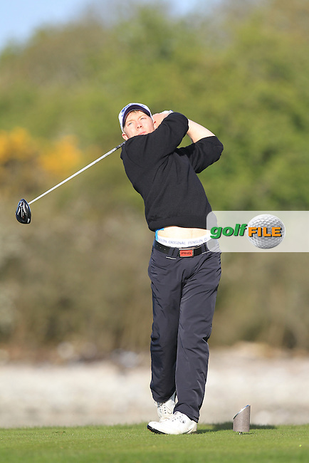 Cathal Butler (Kinsale) on the 4th tee during Round 1 of the Munster Stroke Play Championship at Cork Golf Club on Saturday 30th April 2016.<br /> Picture:  Thos Caffrey / www.golffile.ie